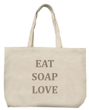 Limited Edition Tote Bag - Eat Soap Love - La Maison Du Savon De Marseille -