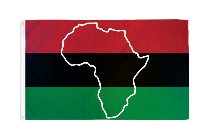 AFRO American Map Flag