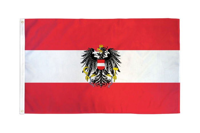 Austria Eagle Flag