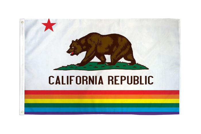 California (Rainbow) Flag