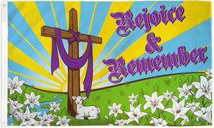 Easter Rejoice & Remember Flag