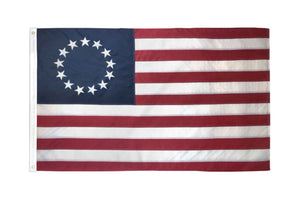 Betsy Ross USA Embroidered Flag