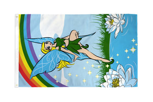 Fairy Rainbow (Green) Flag