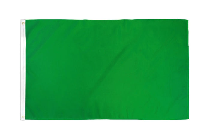 Green Solid Color Flag