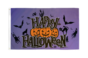 Happy Halloween (Purple) Flag