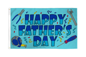 Happy Fathers Day Flag