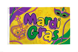 Mardi Gras (Beads) Flag
