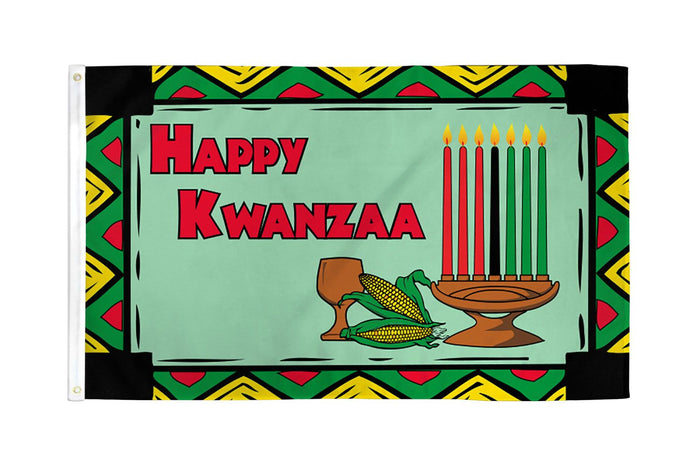 Happy Kwanzaa Flag