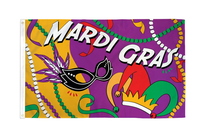 Mardi Gras Party Flag