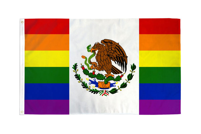 Mexico (Rainbow) Waterproof Flag