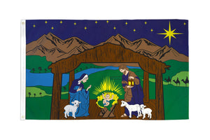Nativity Scene Flag