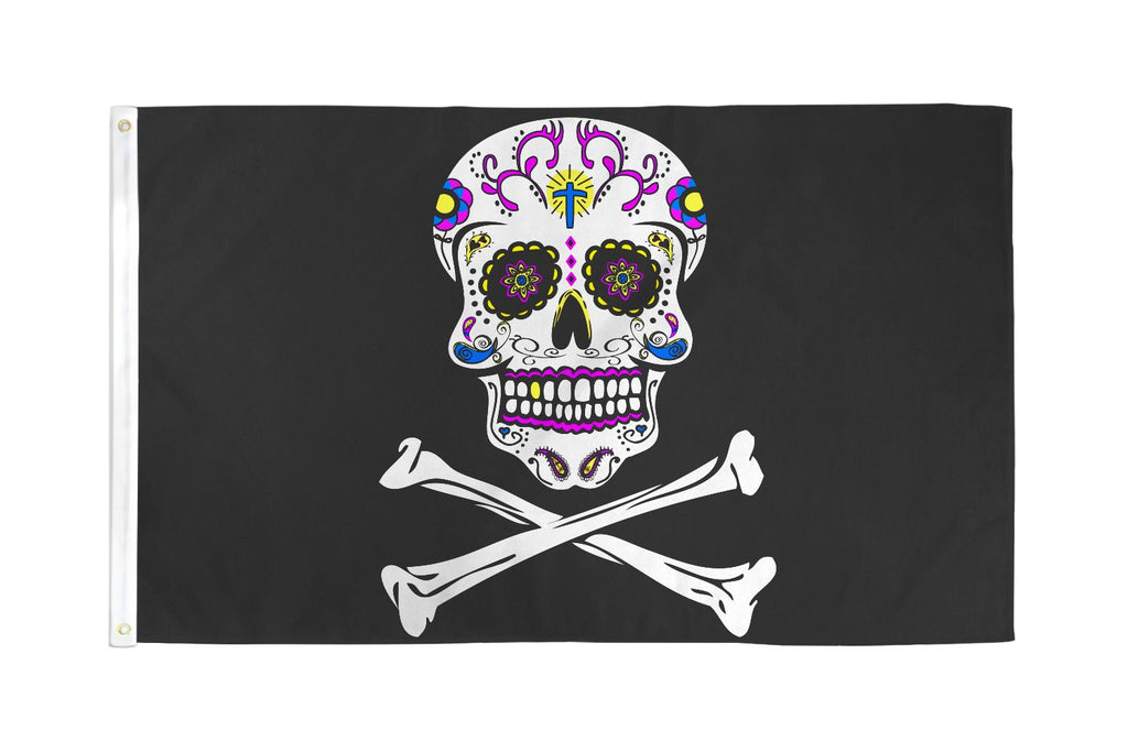 Pirate Sugar Skull Flag