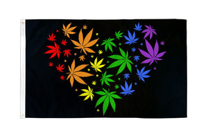 Marijuana Love (Rainbow) Flag