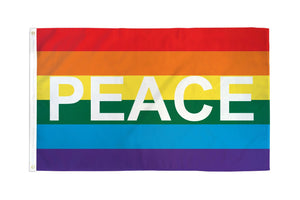 Rainbow Peace Letters Flag
