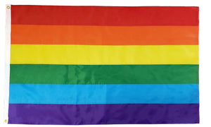Rainbow Embroidered Flag