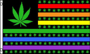 Marijuana USA Rainbow Ultra Breeze Flag