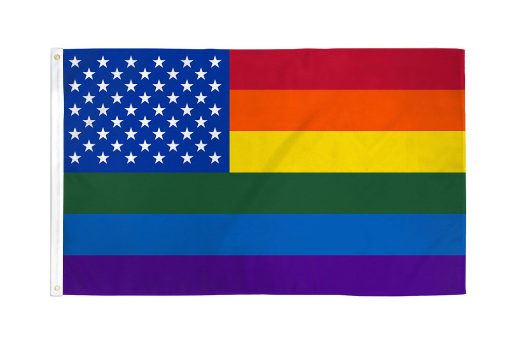 Rainbow US Stars Flag