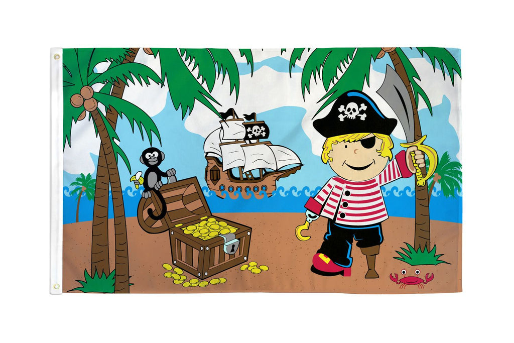 Treasure Island Boy Pirate Flag
