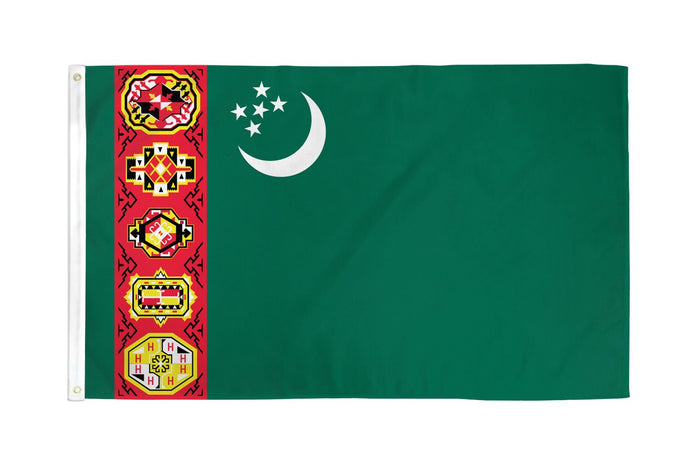 Turkmenistan (Old) Flag
