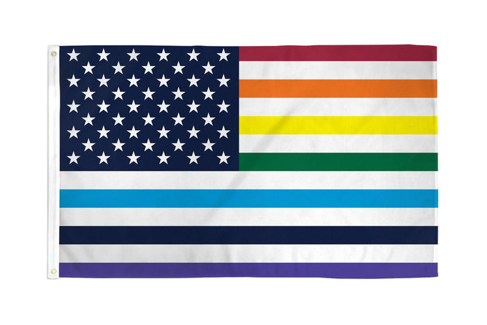USA Rainbow (Old Glory) Flag