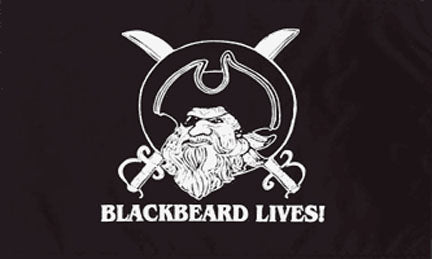 Pirate flags-Black Beard Lives Flag 3x5ft