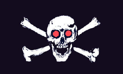 Pirate flags-Red Eyes Flag 3x5ft