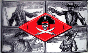 3x5ft Polyester Pirate Captains Flag