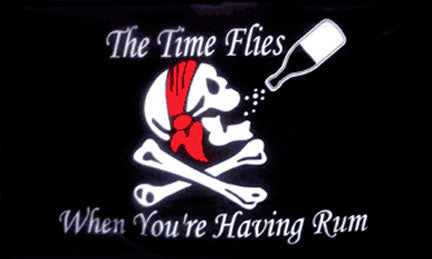 Pirate flags-The Time Flies Flag 3x5ft