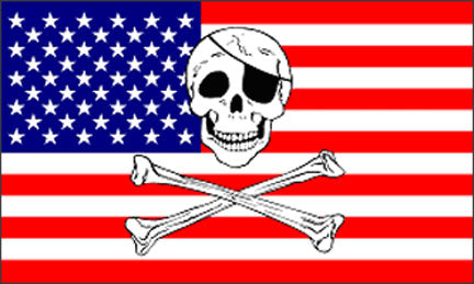 3x5ft Polyester USA Pirate Flag