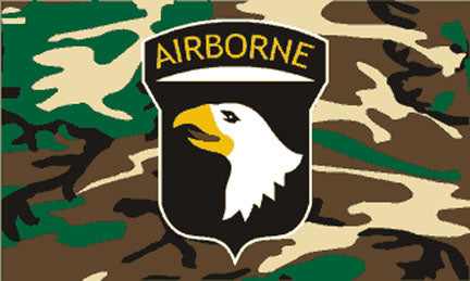 Military flags-101st Airborne Camou Flag 3x5ft