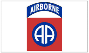 Military flags-82nd Airborne white Flag 3x5ft