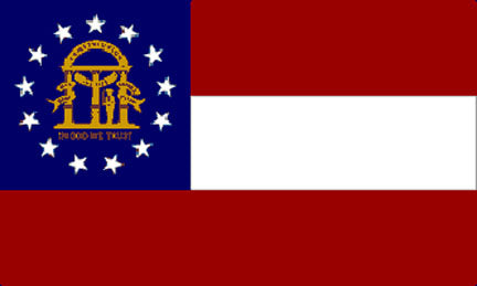 Georgia state flag 3x5 ft - US state Flags