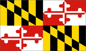 Maryland state flag 3x5 ft - US state Flags