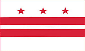 Washington D.C. state flag 3x5 ft - US state Flags