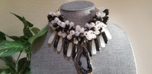 Load image into Gallery viewer, Natural Agate Stone Necklace - Black White Beads