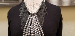 Pearl Chain Gray Necklace