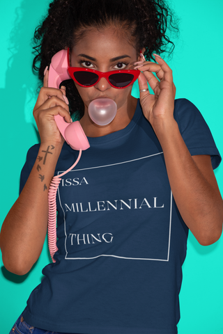 Issa Millennial Thing Tee-Navy