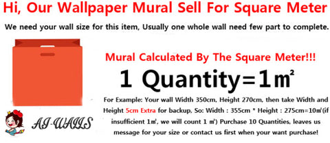 custom size 3D wallpaper mural