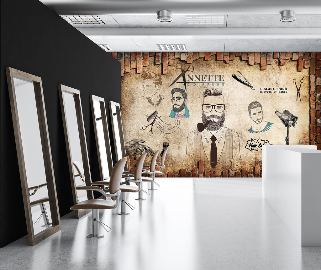 Small business décor ideas for salon and gym wall murals at AJ