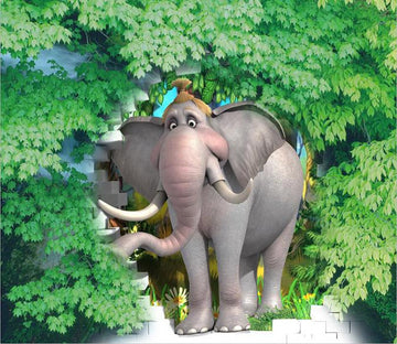 3D Animals elephant tree Wallpaper AJ Wallpaper 1
