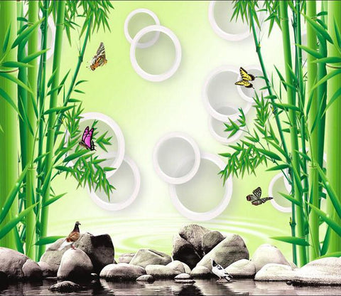 3D Bamboo forest stone butterfly - AJ Walls - 1