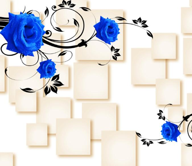 3D Blue Rose Wallpaper AJ Wallpaper 1