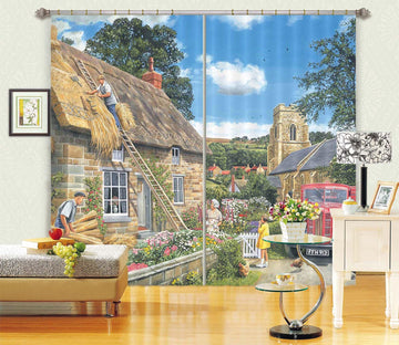 3D A New Thatch 041 Trevor Mitchell Curtain Curtains Drapes Curtains AJ Creativity Home
