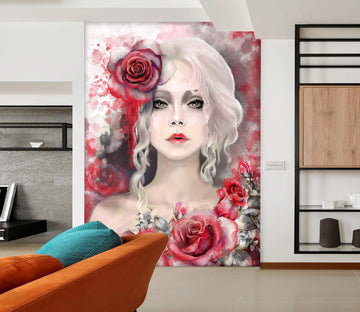 3D Queen Red Rose 715