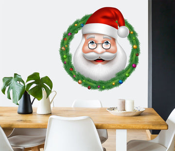3D Santa Claus Circle 49 Wall Stickers Wallpaper AJ Wallpaper