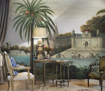 3D Beach Castle 1418 Wall Murals Wallpaper AJ Wallpaper 2
