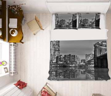 3D Building Bridge 050 Marco Carmassi Bedding Bed Pillowcases Quilt
