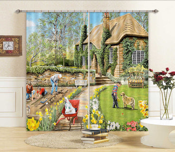 3D Spring Gardening 091 Trevor Mitchell Curtain Curtains Drapes