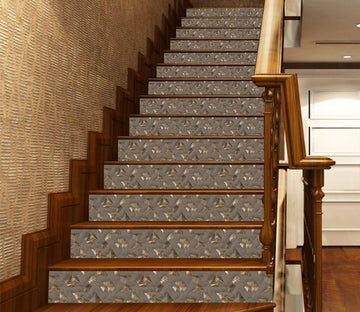 3D Polygon Mosaic 601 Marble Tile Texture Stair Risers Wallpaper AJ Wallpaper