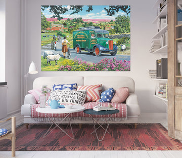 3D Over Hill And Dale 053 Trevor Mitchell Wall Sticker